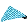 Mirage Pet Products Turquoise Houndstooth Bandana Pet Collar Black Size 14