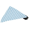 Mirage Pet Products Baby Blue Houndstooth Bandana Pet Collar Black Size 16