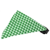 Mirage Pet Products Emerald Green Houndstooth Bandana Pet Collar Black Size 10