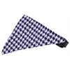 Mirage Pet Products Purple Houndstooth Bandana Pet Collar Black Size 10