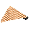 Mirage Pet Products Sun Kissed Yellow Houndstooth Bandana Pet Collar Black Size 14