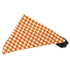 Mirage Pet Products Orange Houndstooth Bandana Pet Collar Black Size 10