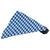 Mirage Pet Products Primary Blue Houndstooth Bandana Pet Collar Black Size 10