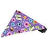 Mirage Pet Products Purple Summer Fun Bandana Pet Collar Black Size 10