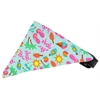 Mirage Pet Products Aqua Summer Fun Bandana Pet Collar Black Size 10