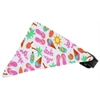 Mirage Pet Products White Summer Fun Bandana Pet Collar Black Size 12