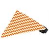 Mirage Pet Products Orange Chevron Bandana Pet Collar Black Size 12