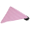 Mirage Pet Products Bubblegum Pink Chevron Bandana Pet Collar Black Size 14