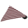 Mirage Pet Products Maroon Chevron Bandana Pet Collar Black Size 18