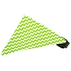 Mirage Pet Products Lime Chevron Bandana Pet Collar Black Size 10