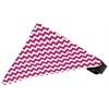 Mirage Pet Products Bright Pink Chevron Bandana Pet Collar Black Size 14