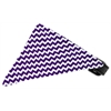 Mirage Pet Products Purple Chevron Bandana Pet Collar Black Size 14