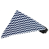 Mirage Pet Products Navy Chevron Bandana Pet Collar Black Size 12