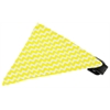 Mirage Pet Products Yellow Chevron Bandana Pet Collar Black Size 10