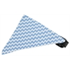 Mirage Pet Products Baby Blue Chevron Bandana Pet Collar Black Size 18