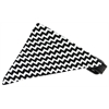 Mirage Pet Products Black Chevron Bandana Pet Collar Black Size 20