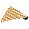 Mirage Pet Products Sun Kissed Yellow Chevron Bandana Pet Collar Black Size 18