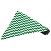 Mirage Pet Products Emerald Green Chevron Bandana Pet Collar Black Size 12