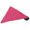 Mirage Pet Products Bright Pink Swiss Dots Bandana Pet Collar Black Size 16
