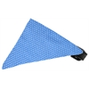 Mirage Pet Products Baby Blue Swiss Dots Bandana Pet Collar Black Size 14