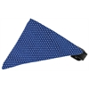 Mirage Pet Products Navy Swiss Dots Bandana Pet Collar Black Size 20