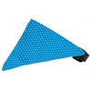Mirage Pet Products Aqua Swiss Dots Bandana Pet Collar Black Size 14