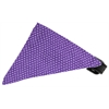 Mirage Pet Products Purple Swiss Dots Bandana Pet Collar Black Size 12