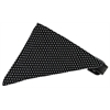 Mirage Pet Products Black Swiss Dots Bandana Pet Collar Black Size 20