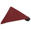 Mirage Pet Products Maroon Swiss Dots Bandana Pet Collar Black Size 14