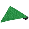 Mirage Pet Products Emerald Green Swiss Dots Bandana Pet Collar Black Size 10
