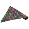 Mirage Pet Products Neon Party Plaid Bandana Pet Collar Black Size 14