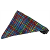 Mirage Pet Products Rainbow Party Plaid Bandana Pet Collar Black Size 16