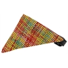 Mirage Pet Products Autumn Party Plaid Bandana Pet Collar Black Size 16