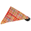 Mirage Pet Products Peach Party Plaid Bandana Pet Collar Black Size 18