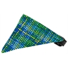 Mirage Pet Products Blue Party Plaid Bandana Pet Collar Black Size 10