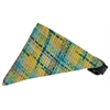 Mirage Pet Products Grey Party Plaid Bandana Pet Collar Black Size 10