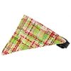 Mirage Pet Products Lime and Pink Party Plaid Bandana Pet Collar Black Size 18