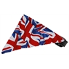 Mirage Pet Products Union Jack(British) Flag Bandana Pet Collar Black Size 10