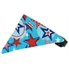 Mirage Pet Products Patriotic Stars Bandana Pet Collar Black Size 16