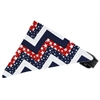 Mirage Pet Products Patriotic Chevrons Bandana Pet Collar Black Size 16