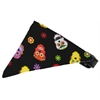 Mirage Pet Products Dia de los Muertos Bandana Pet Collar Black Size 12