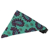 Mirage Pet Products Aqua Pretty Paisley Bandana Pet Collar Black Size 16