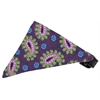 Mirage Pet Products Purple Pretty Paisley Bandana Pet Collar Black Size 16