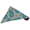 Mirage Pet Products Grey Pretty Paisley Bandana Pet Collar Black Size 10
