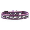 Mirage Pet Products Crystal and Silver Spikes Dog Collar Lavender Size 10