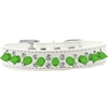 Mirage Pet Products Double Crystal and Neon Green Spikes Dog Collar White Size 18