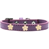 Mirage Pet Products Gold Flower Widget Dog Collar Lavender Size 18