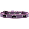Mirage Pet Products Black Bone Widget Dog Collar Lavender Size 14