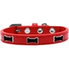 Mirage Pet Products Black Bone Widget Dog Collar Red Size 18