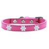 Mirage Pet Products Snowflake Widget Dog Collar Bright Pink Size 10